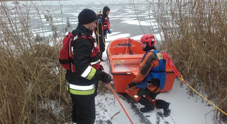 Ćwiczyli ratowanie na lodzie