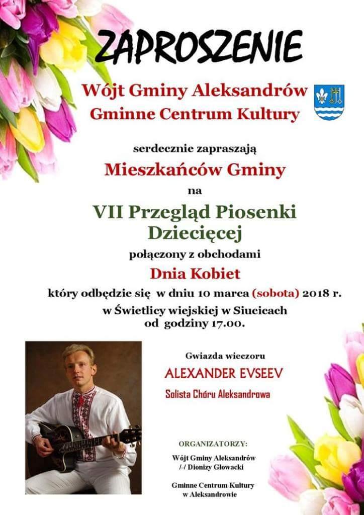 Photo of Alexander z Chóru Aleksandrowa zaśpiewa dla kobiet
