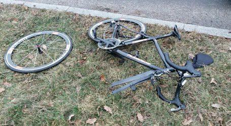 Potrącenie rowerzysty na rondzie Zaremby