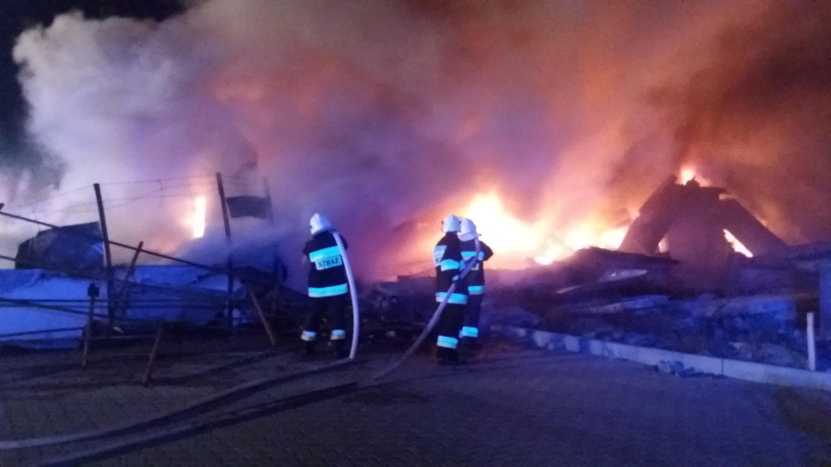 Photo of Pożar w sortowni odpadów na ul. Topolowej [VIDEO]