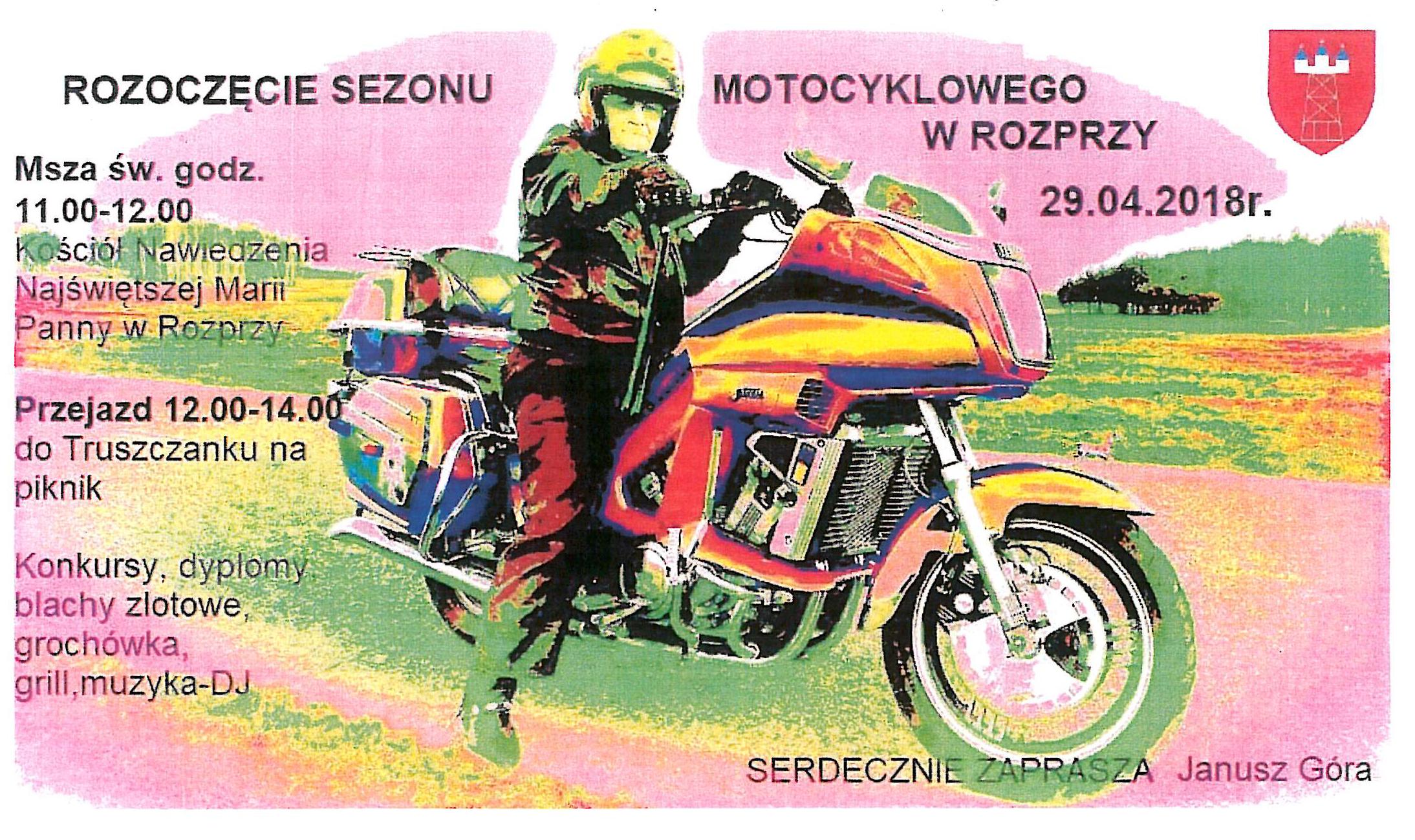 Photo of W niedzielę rozpoczęcie sezonu motocyklowego w Rozprzy