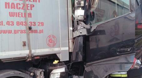 Zderzenie ciężarówek w Gomulinie