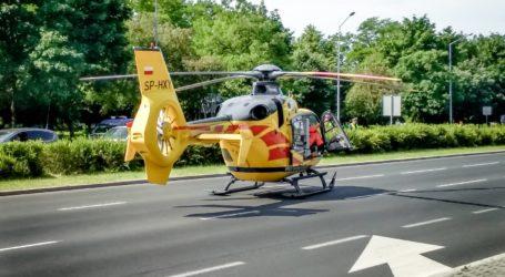 Karetka LPR lądowała w al. Sikorskiego w Piotrkowie