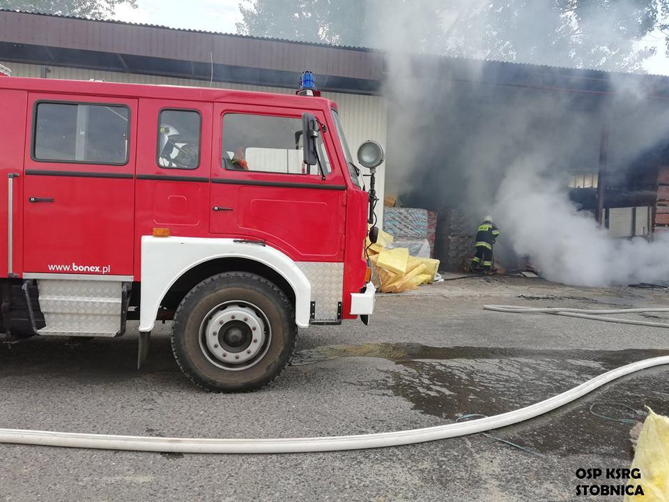 Photo of Fatalny początek niedzieli. Pożar w hurtowni budowlanej