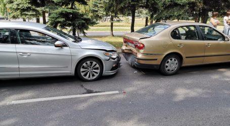 Kolizja trzech osobówek, wypadek na S8