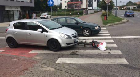 Potrącenie rowerzysty na ulicy Dzielnej