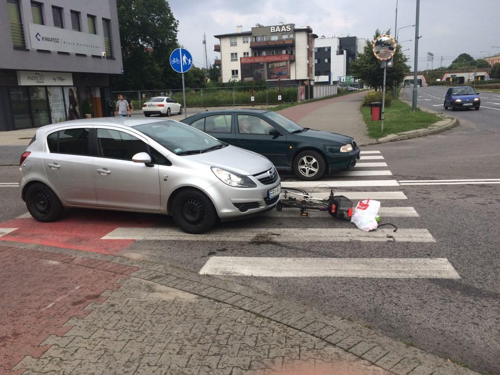 Photo of Potrącenie rowerzysty na ulicy Dzielnej