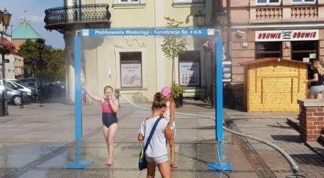 Kurtyny wodne na ulicach Piotrkowa