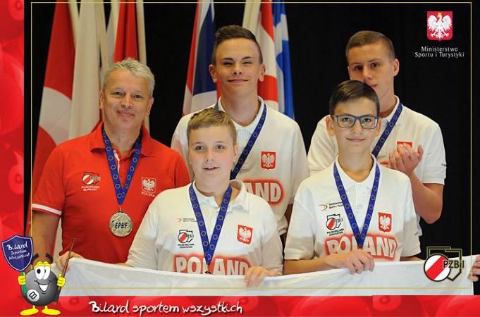 Photo of Oskar Jamorski z Rękoraja drużynowym wicemistrzem Europy