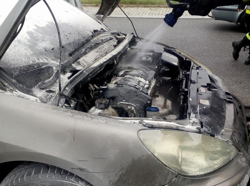 Photo of Pożar samochodu na rondzie