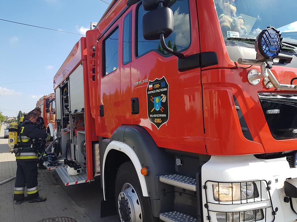Photo of Pożar w Woli Krzysztoporskiej