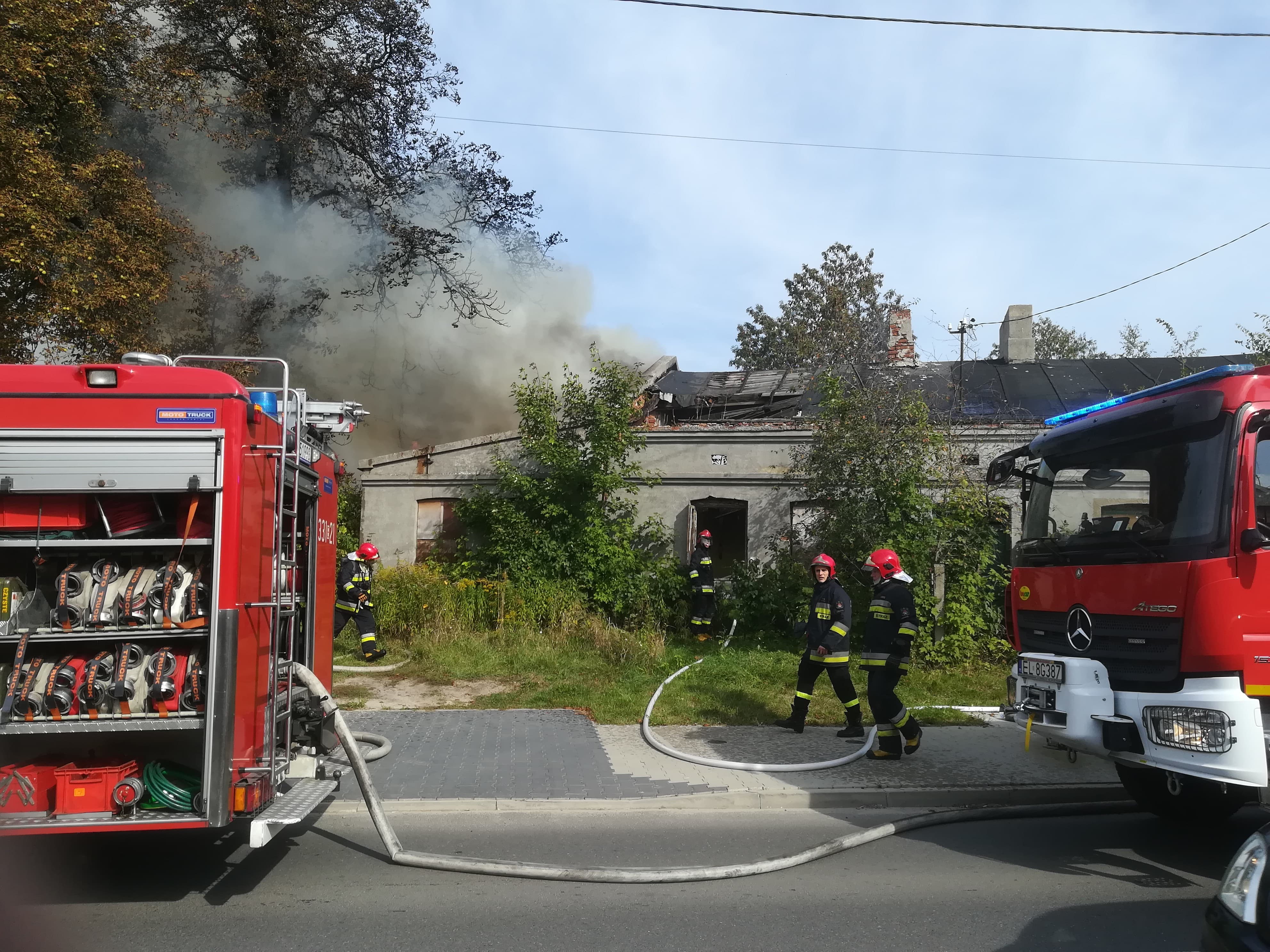 Photo of Pożar przy Jerozolimskiej i Mieszka I [FILM]