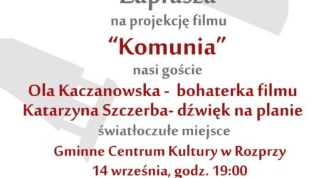 """Zaproszenie na """"Komunię"""""""