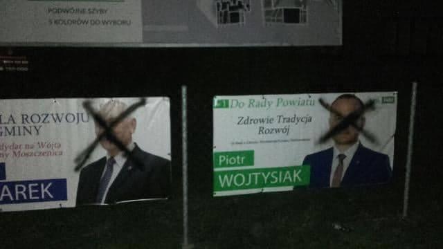 Photo of Ktoś zniszczył banery wyborcze