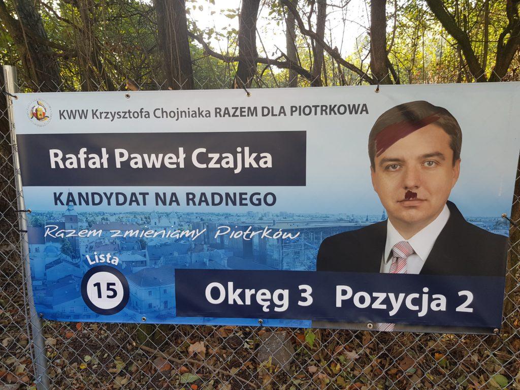 Ktoś Zniszczył Banery Wyborcze Piotrkowski24