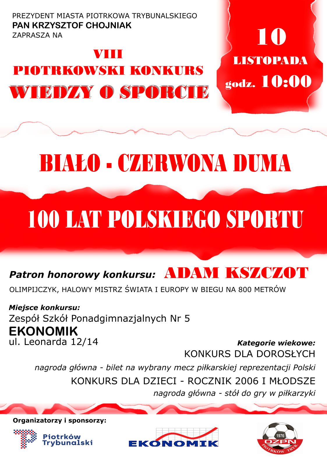 Photo of Zapraszamy na Konkurs Wiedzy o Sporcie