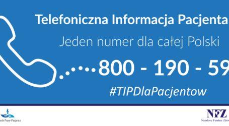 800 190 590 – Telefoniczna Informacja Pacjenta