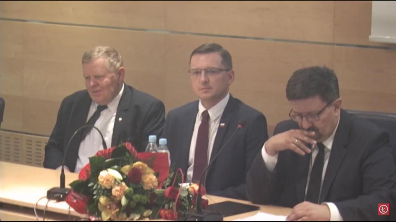 Photo of Grzegorz Schreiber Marszałkiem WŁ. Zbigniew Ziemba i Grzegorz Wojciechowski – zastępcami