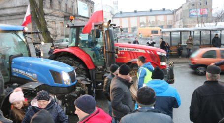 Blokada drogi w Srocku