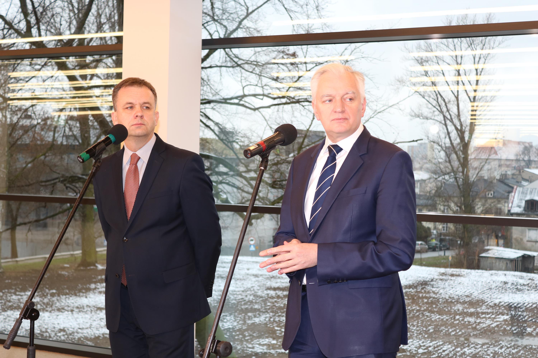 Photo of Wicepremier Jarosław Gowin z wizytą w mediatece