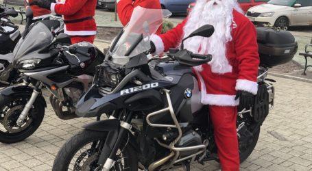 Mikołaje na motocyklach w Wolborzu