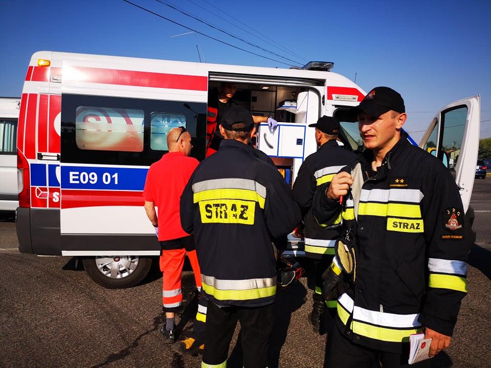 Photo of Po wybuchu pieca, mężczyzna z poparzoną twarzą trafił do szpitala