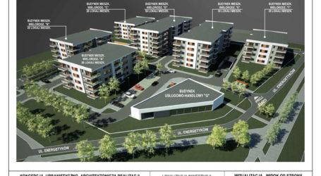 Nowe osiedle mieszkaniowe u zbiegu Kasztanowej i Energetyków w Piotrkowie