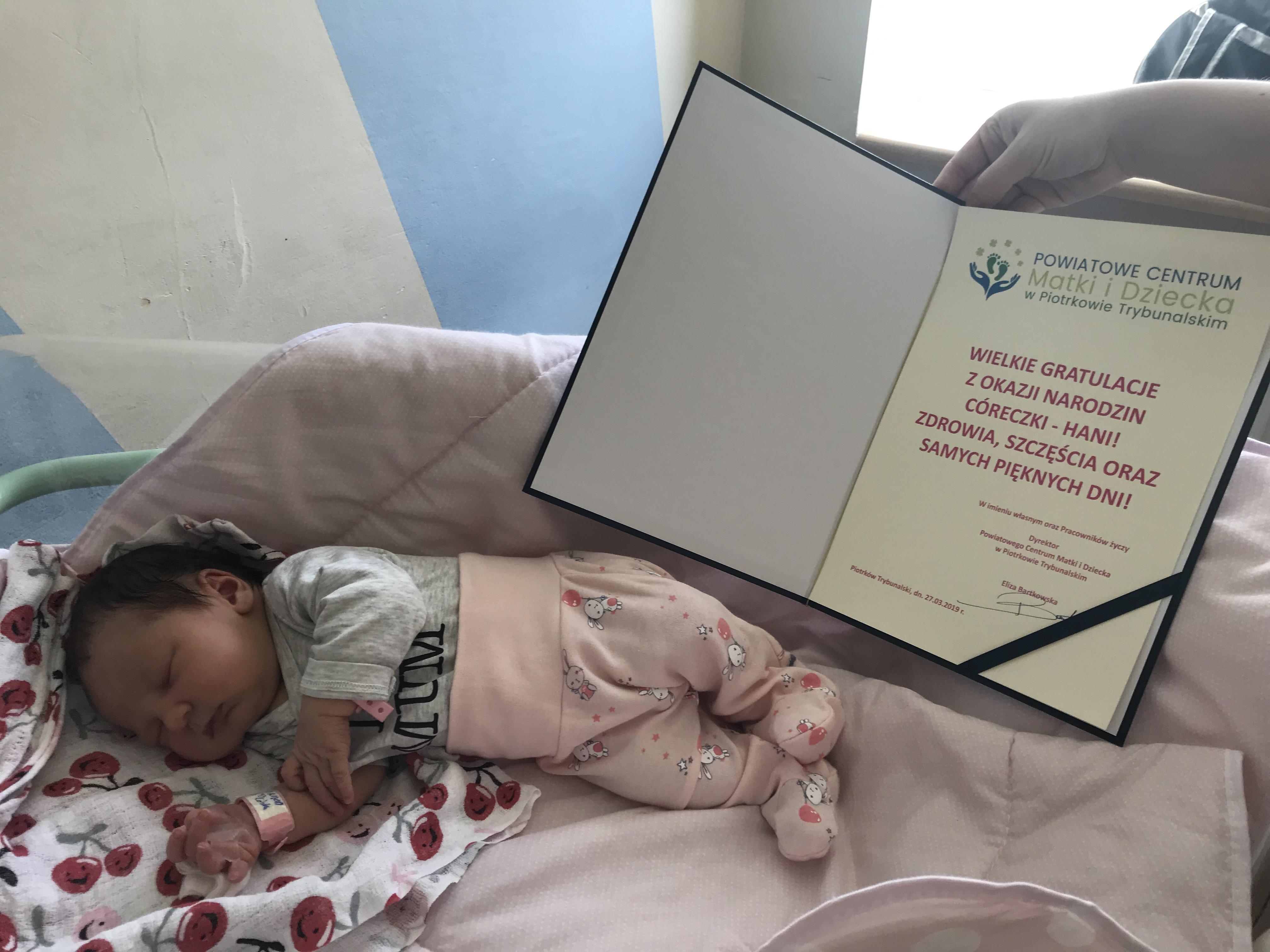 Photo of Hania to 200. noworodek, który przyszedł na świat w tym roku w Piotrkowie