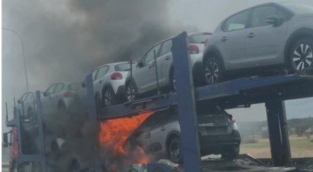 Pożar lawety na S8 – zobacz film