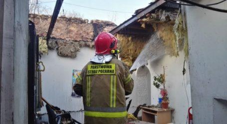 Pożar domu w Białej