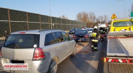Cztery auta zderzyły się w Przygłowie