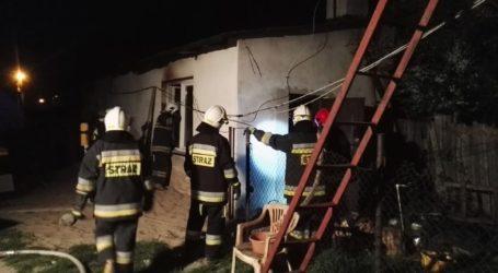 Pożar domu przy Targowej w Sulejowie