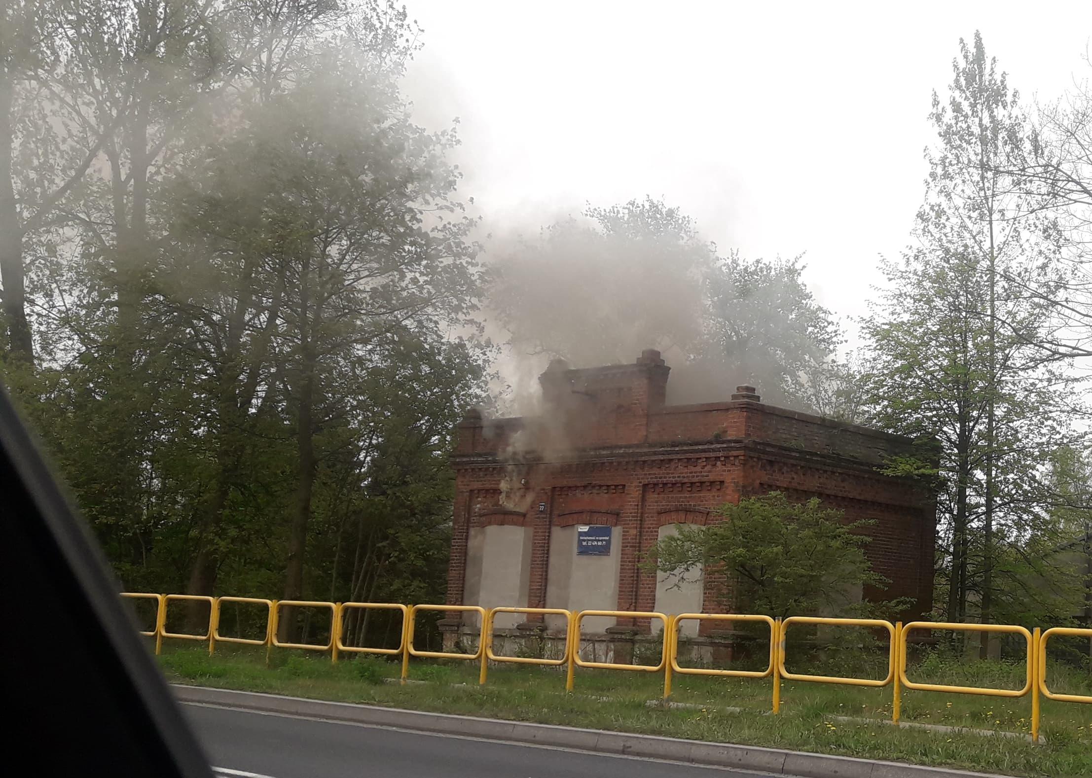 Photo of Pożar w budynku byłej wąskotorówki w Uszczynie