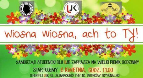 """Piknik Rodzinny """"Wiosna, Ach to Ty"""" na boisku UJK"""