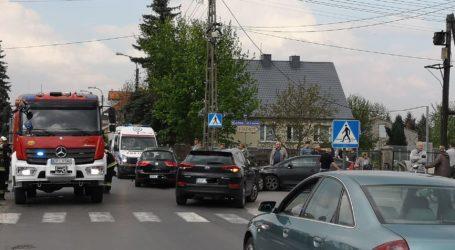 Trzy samochody zderzyły się w Wolborzu