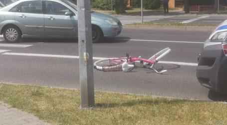 Potrącenie rowerzystki koło ZUSu
