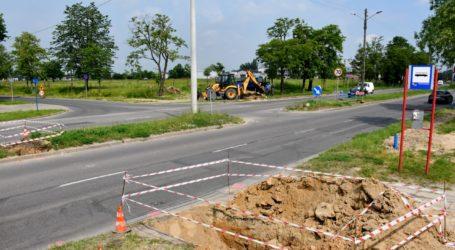 Prace na skrzyżowaniu Żelazna-Haeringa