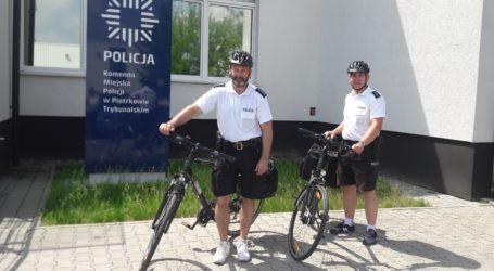 Patrole rowerowe na ulicach Piotrkowa