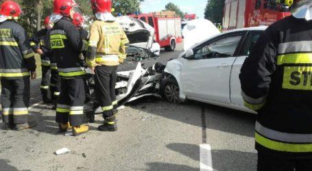 Wypadek w Kosowie. Droga Piotrków – Srock była zablokowana