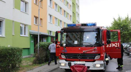Interwencja strażaków w wieżowcu przy Belzackiej