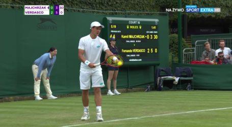 Kamil Majchrzak odpadł z Wimbledonu
