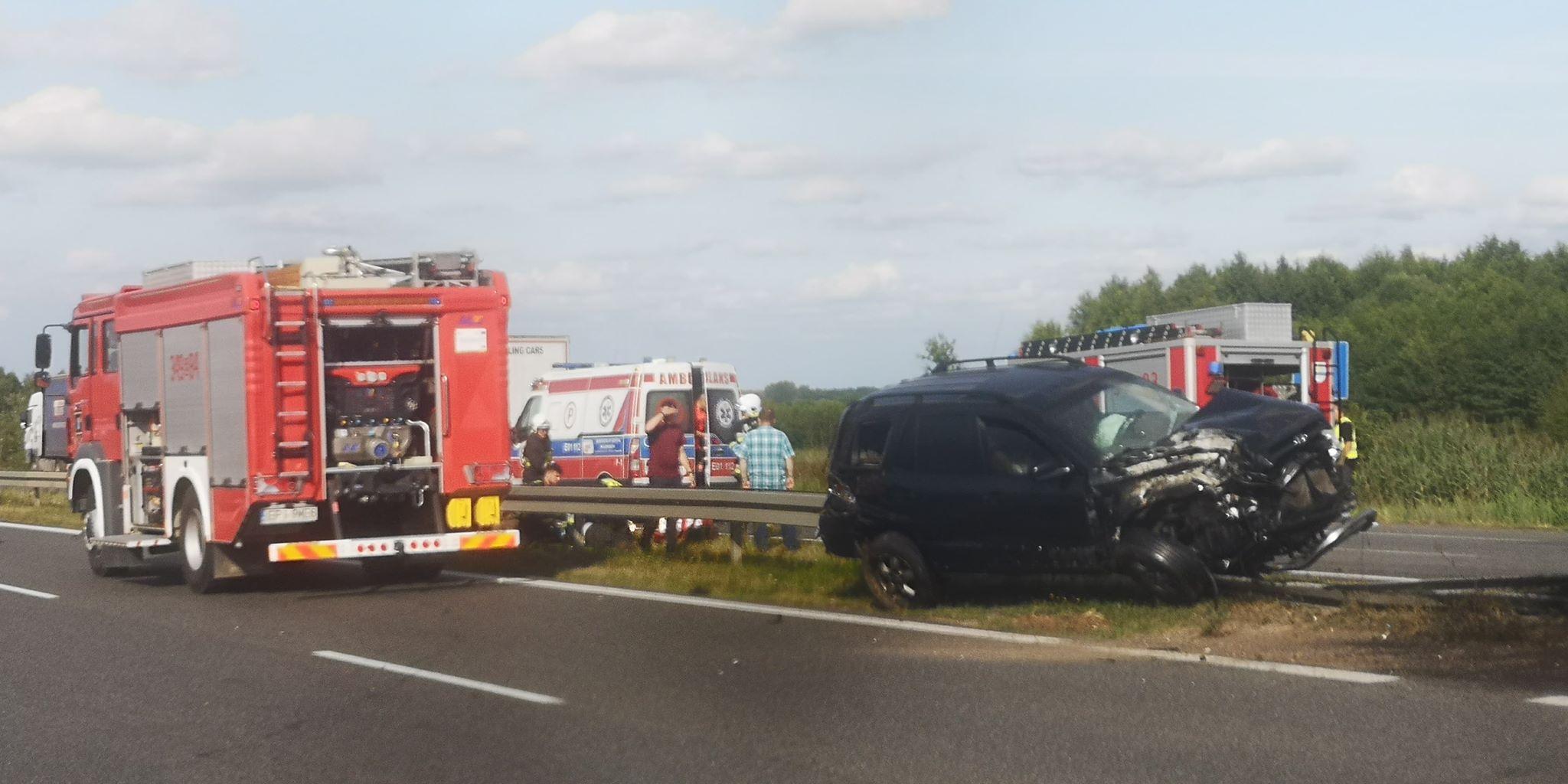 Photo of Wypadek na DK1. Droga w Blizinie zablokowana