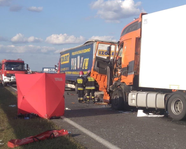 Photo of Śmiertelny wypadek na DK1. Zginął kierowca TIRa – zdjęcia