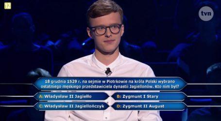 Pytanie o Piotrków w teleturnieju Milionerzy