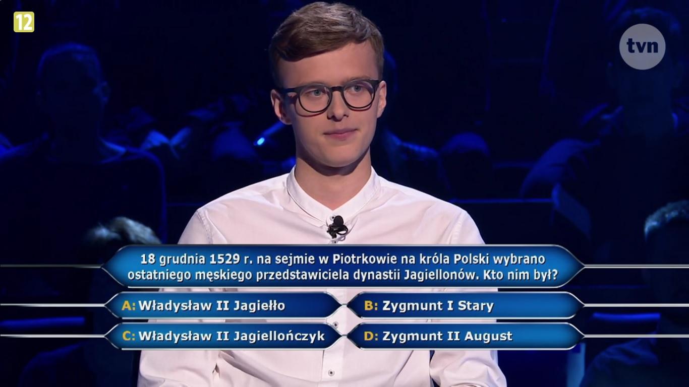 Photo of Pytanie o Piotrków w teleturnieju Milionerzy