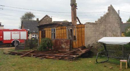 Zerwane dachy i linie energetyczne. Wiatr łamał drzewa jak zapałki