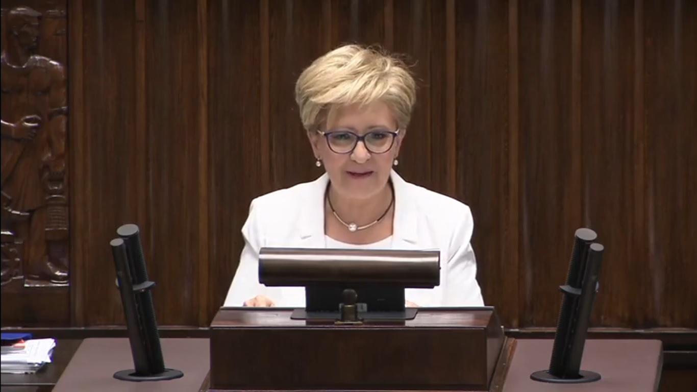 Photo of Ostatnie wystąpienie posłanki E.Radziszewskiej – wideo