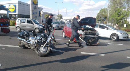 Zderzenie osobówki i motocykla