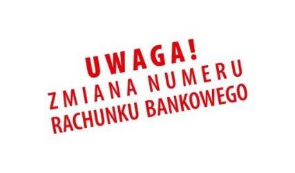 Zmiana numeru konta bankowego…