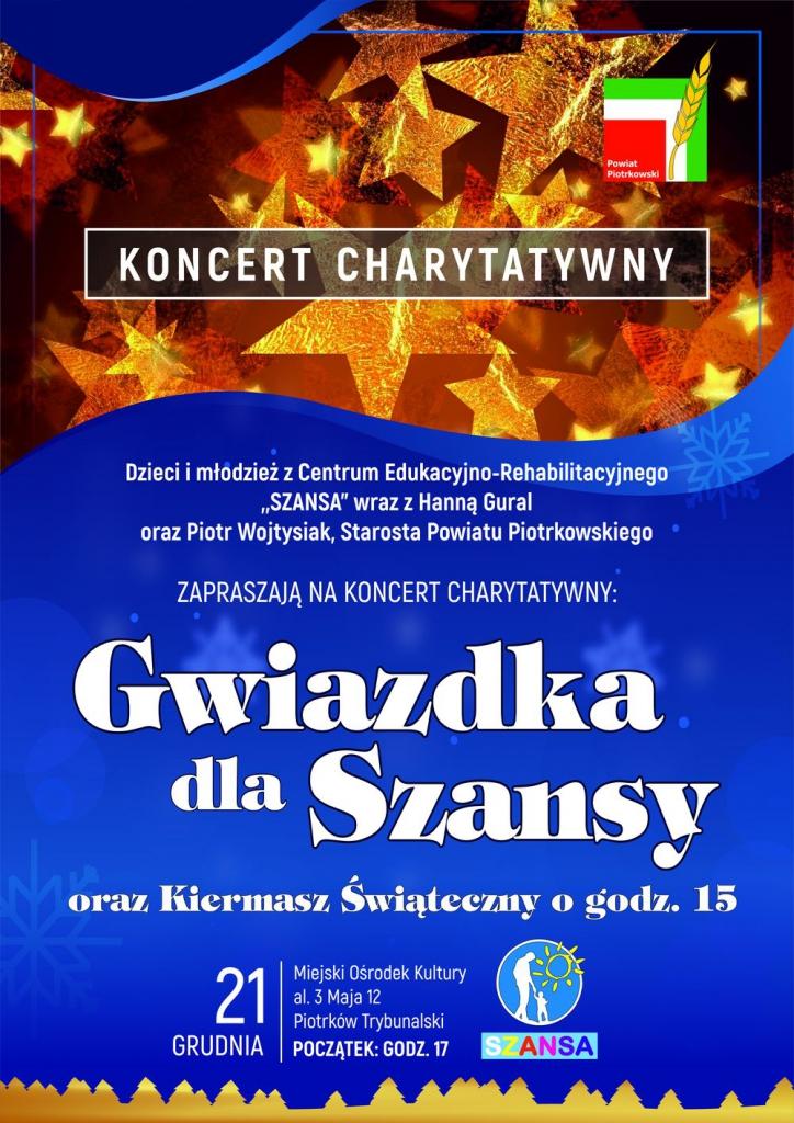"""Photo of Już w najbliższą sobotę koncert charytatywny dla """"Szansy"""""""